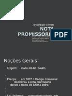 Slide NOTA PROMISSÓRIA