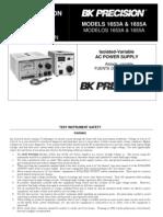 BK 1653A Manual