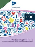 12 Key Lecturing Skills eBook