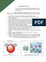 properties of water notes