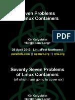 7 Problems conts