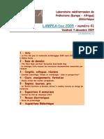 LAMPEA-Doc 2009 – numéro 41 / Vendredi 4 décembre 2009