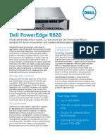 Dell PowerEdge R820 Spec Sheet