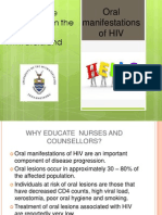 Oral Lesions indicative of HIV - Presentation