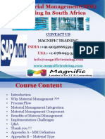 Sap Material Management(MM) Training in South Africa