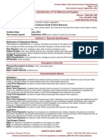Glitz Calcium Scale and Rust Remover Msds