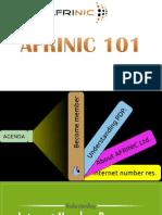 AFRINIC 101