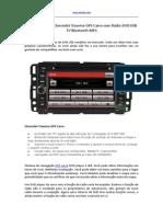 2009 2010 2011 Chevrolet Traverse GPS Carro Com Rádio DVD USB TV Bluetooth MP3