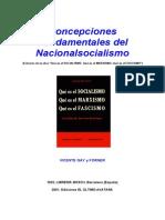 Concepciones Fundamentales Del Nacionalsocialismo - Gay y Fornier, Vicente