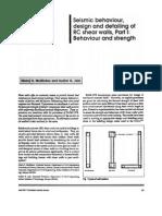 Ductile Detailng of Walls