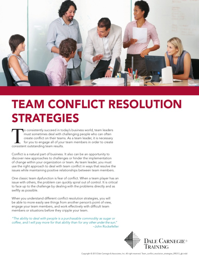 team conflict resolution strategies 062013 gb attitude psychology emergence - Are You A Tram Player Ability To Work In A Team