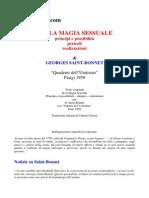 Georges Saint-Bonnet - Della Magia Sessuale