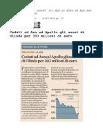 Accordo con AXA per immobili Fondo Olinda - Prelios Massimo Caputi