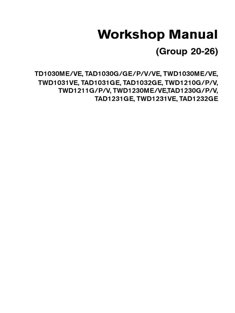 Manual tad1232ge array tad 1030 1232 turbocharger cylinder engine rh scribd fandeluxe Gallery