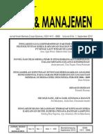 JBM Volume 9 No. 1 September 2012