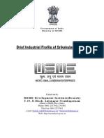 Brief Industrial Profile of Srikakulam District - MSME