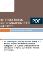 Interest Rate Determination in Financial Markets