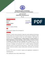 Marketing; Course Plan; بهمن 92