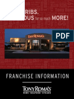 Tony Roma's - Franchise Brochure
