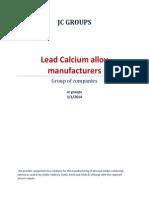 Lead Calcium Alloy Manufacturers