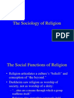 13 the Sociology of Religion