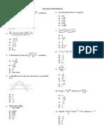 Taller Psu Matemática