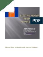 Electric Motor Rewinding Repair Services