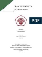 LAPORAN KASUS MATA - Keratitis Subepitel - Hugo