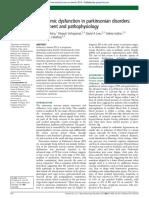 Autonomic dysfunction in parkinsonian disorders