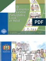 Guía de Procedimientos de la Gestión Participativa Local en Salud
