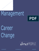 Project Management Career Change