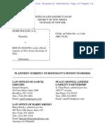 Plaintiffs' Surreply to Defendant's Motion to Dismiss