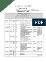 Calendário 2014 - Integrado III