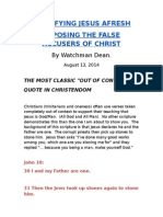 Crucifying Jesus Afresh