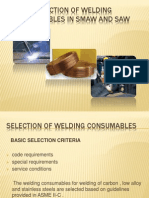 Type and Selection of Welding Consumables