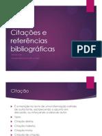 Citações e Referências Bibliográficas NORMA NOVA