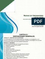 Nuevas Ley Universitaria Peruana