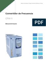 WEG Cfw 11 Manual Del Usuario 10000063156 Manual Espanol