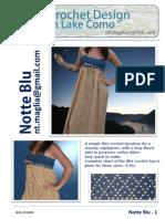 Notte Blu Crochet Top Pattern