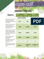 marketing proposal- sponsorship packages
