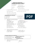 EJERCICIOS Propuestos Productos Notables (1)