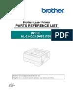 HL 2140 Sp Manual Partes