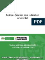 Políticas Públicas Para La Promoción de La Gestión Ambiental