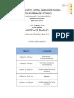 Agenda Reunion 23 Octubre