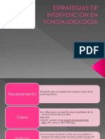 Estrategias de Intervención en Fonoaudiología