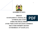 First Kisii County Government Education Conference
