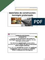 Materiales de Construccion Hormigon Pretensado