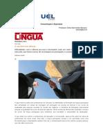 Artigo - Comunicação e Expressão - Língua - Carreira