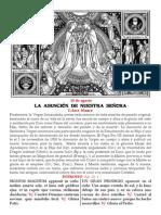 LA ASUNCIÓN DE NUESTRA SEÑORA. 15 de agosto. Folleto PDF