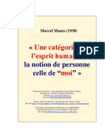 Mauss, M. Une categore de l´espirit humain...